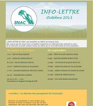 Info-Lettre du SNAC
